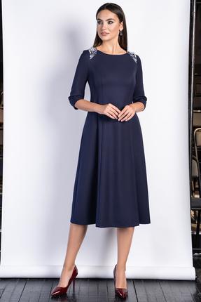 женское повседневные платье юрс, синее