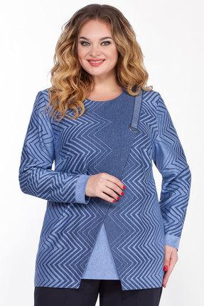 женская туника emilia style, голубая
