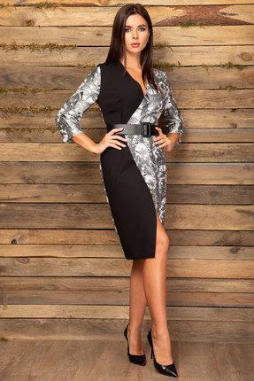 Платье Angelina & Co 444 черный с белым