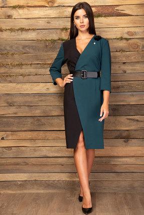 Платье Angelina & Co 445 черный с морской волной