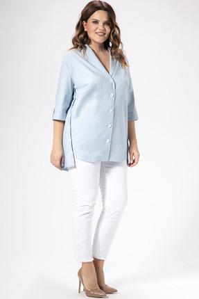 Фото - Рубашку Panda 448140 голубой голубого цвета