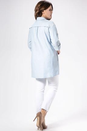 Фото 2 - Рубашку Panda 448140 голубой голубого цвета