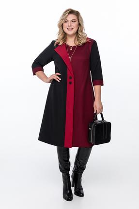 Платье Pretty 1155 черно-красный