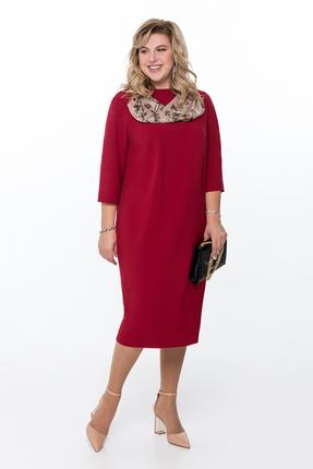 Платье Pretty 1176 красные тона