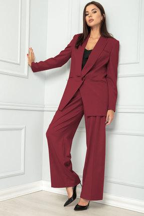 женский брючный костюм sandyna, вишнёвый
