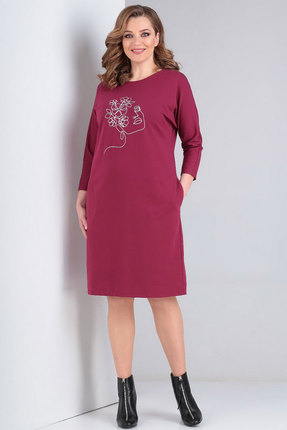 женское повседневные платье ксения стиль, фуксия
