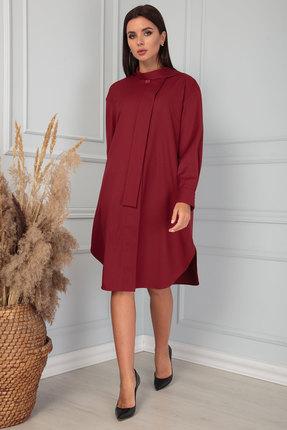 женское повседневные платье sandyna, вишнёвое