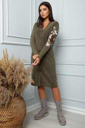 женское повседневные платье sandyna, оливковое