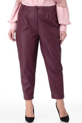 женские брюки anelli, вишнёвые