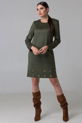 женское повседневные платье foxyfox, оливковое
