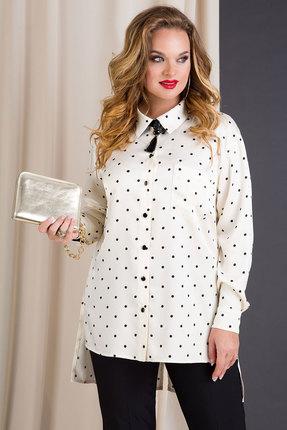 женская рубашка лилиана, молочная