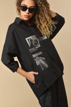 женская рубашка сч@стье, черная