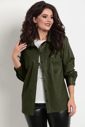 женская рубашка solomeya lux, зеленая