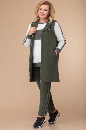 женский спортивный костюм svetlana style, оливковый