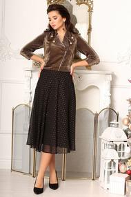 Платье Мода-Юрс 2622 черный+золото