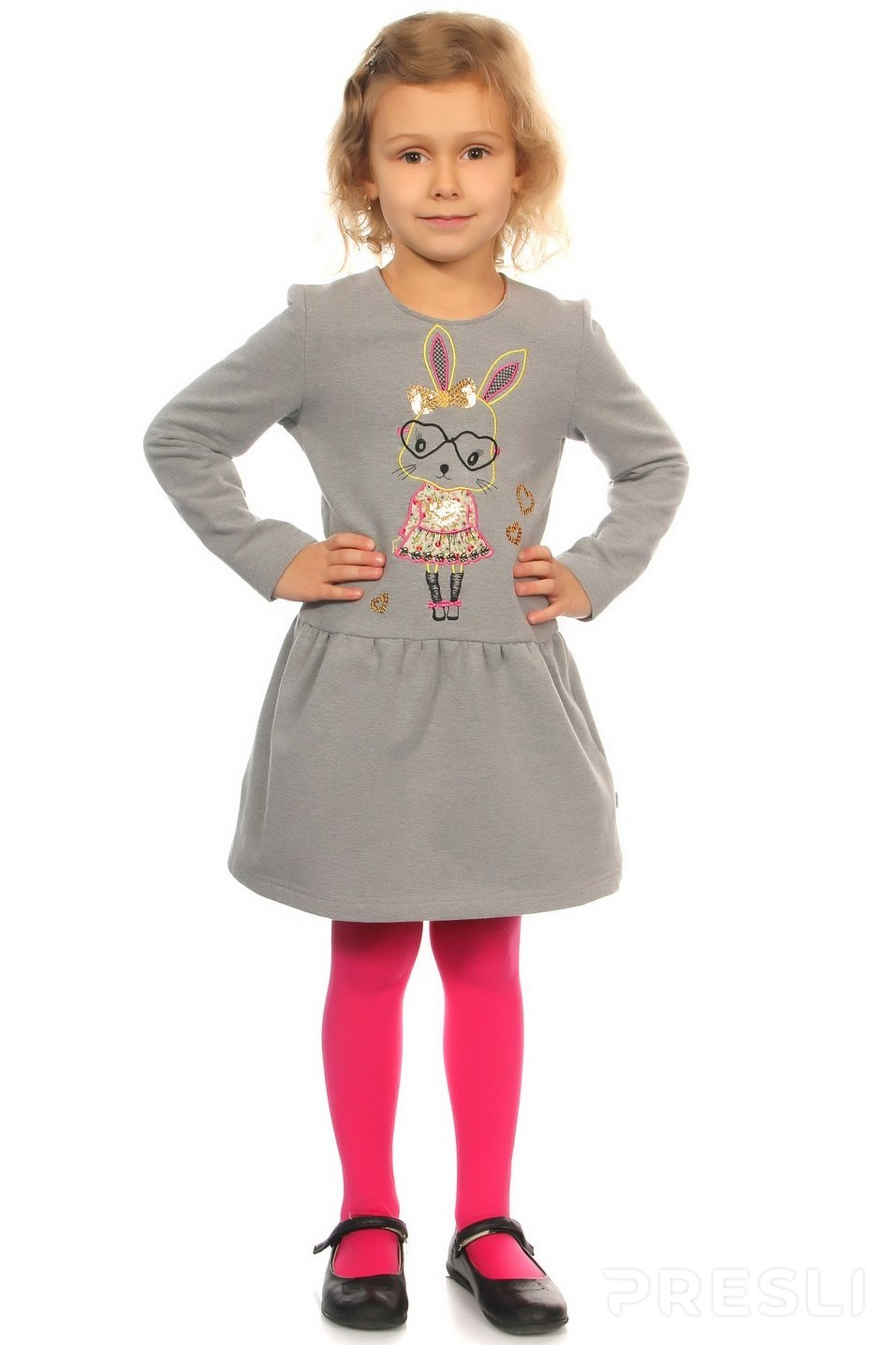 Платье Lemur 986 серый меланж