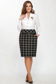 Комплект юбочный БагираАнТа 507 черно-белые тона