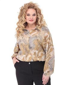 Рубашка Angelina & Co 487 серо-бежевые тона