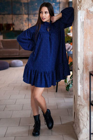 Платье Krasa 235-21 синий с белым
