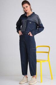 Комплект брючный Viola Style 20551 синий