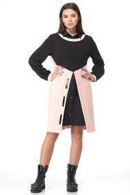Комплект плательный Angelina & Co 497р черный с розовым