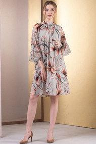 Платье Deesses 1028/3 бежевый с цветами