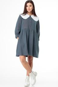 Платье Anelli 973 зеленые тона