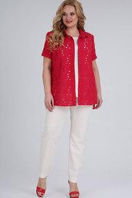 Комплект брючный Elga 13-699 красный+белый