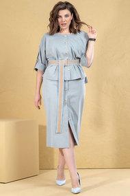 Комплект юбочный Deesses 3045 голубой
