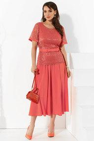 Комплект юбочный Lissana 4297 коралловый