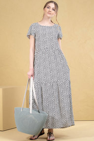 Платье Deesses 1040/1 черный с белым
