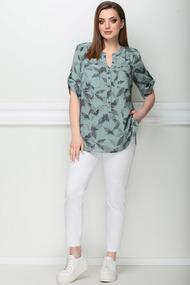 Блузка LeNata 11750 зеленые тона