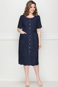 Платье LeNata 11204 синий