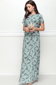 Платье LeNata 12130 зеленый