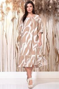 Платье Faufilure 1163 Бежевый и белый