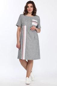 Платье Lady Style Classic 2036 хаки с розовым