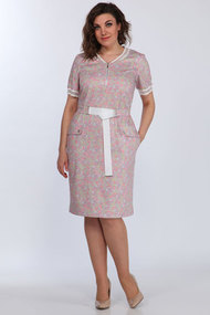 Платье Lady Style Classic 2057/3 розовые тона - цветы