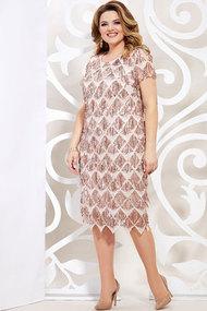 Платье Mira Fashion 4942 розовые тона