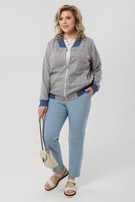Комплект брючный Pretty 1986 серый с голубым