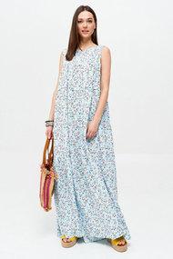 Платье ЛЮШе 2636 голубые тона