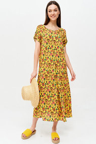Платье ЛЮШе 2642 желтые тона