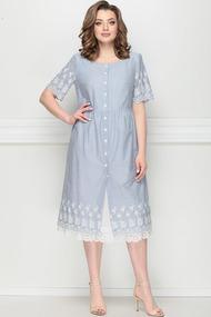 Платье LeNata 11203 голубые тона