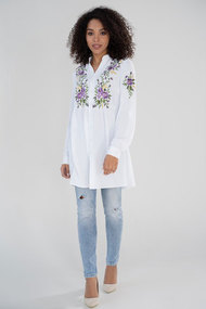 Блузка ЮРС 21-632-1 белый