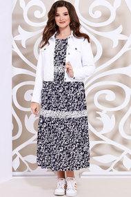 Комплект плательный Mira Fashion 4936-3 синий + белый
