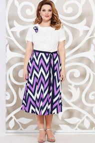 Платье Mira Fashion 4938 сине-сиреневые тона