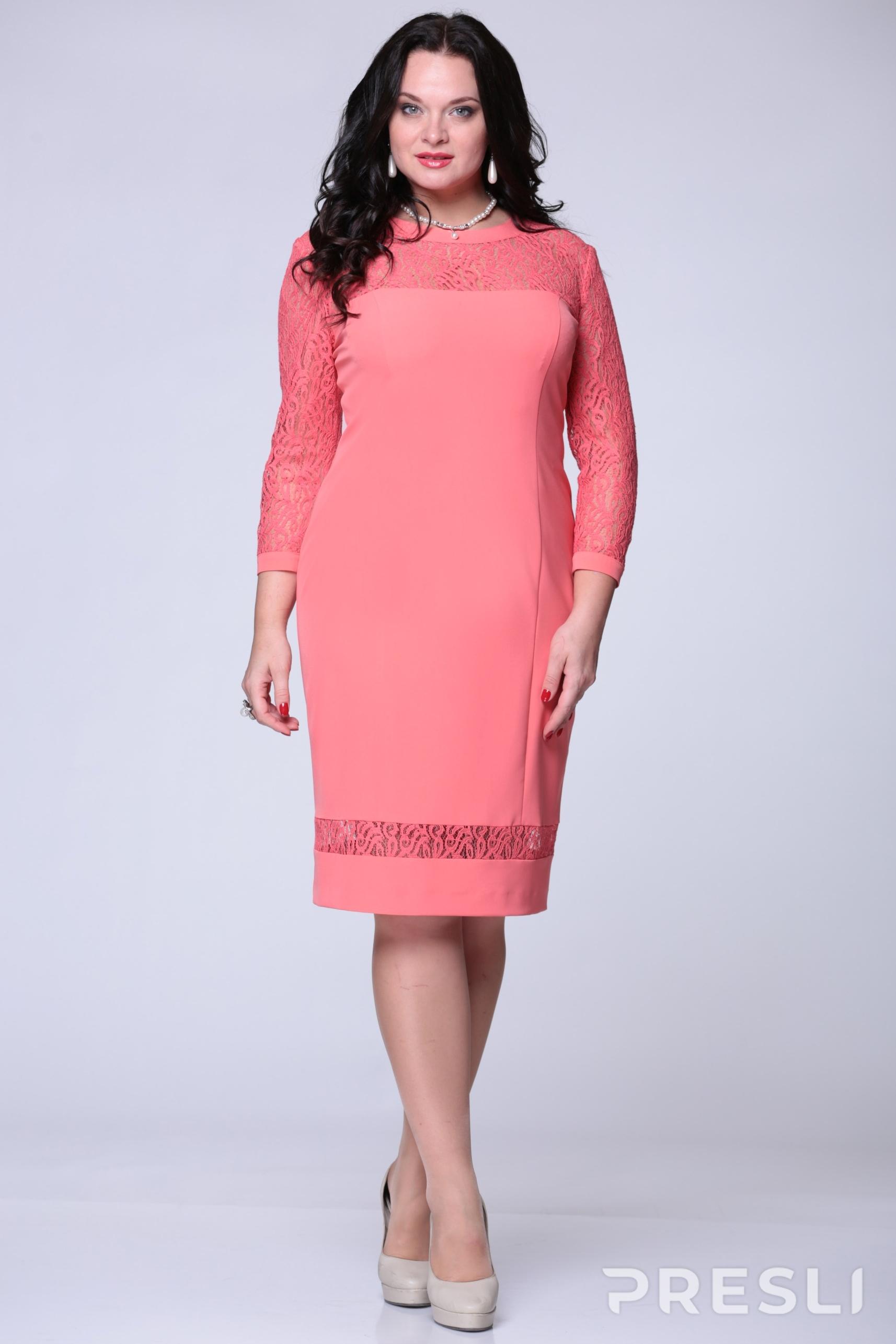 Платье ЮРС 15-546 розовый