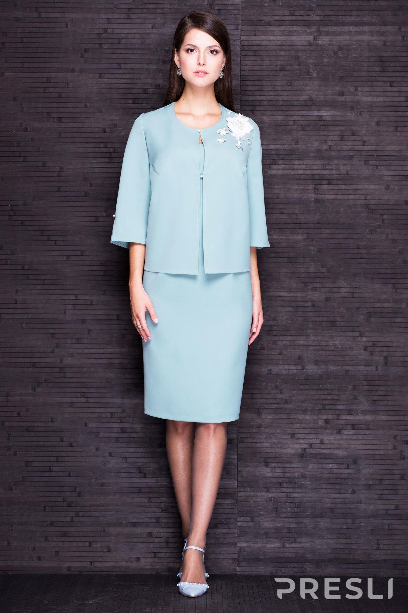 Комплект юбочный Faufilure С233 бледно-бирюзовый