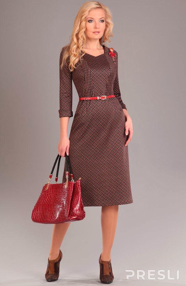 Платье Axxa 53943 терракотовые тона