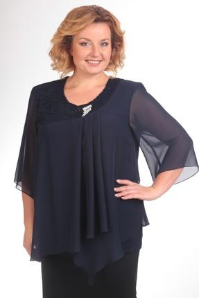 Блузка Pretty 376 синий