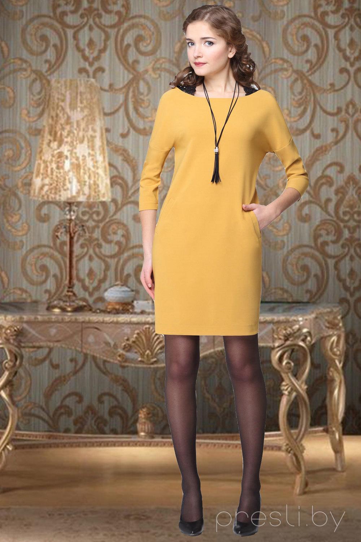 Платье Carina Deluxe 367 горчица